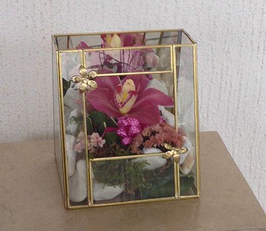 Oq 03 Orquídea En Bolsa De Cristal