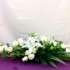 Cubre caja floral blanco